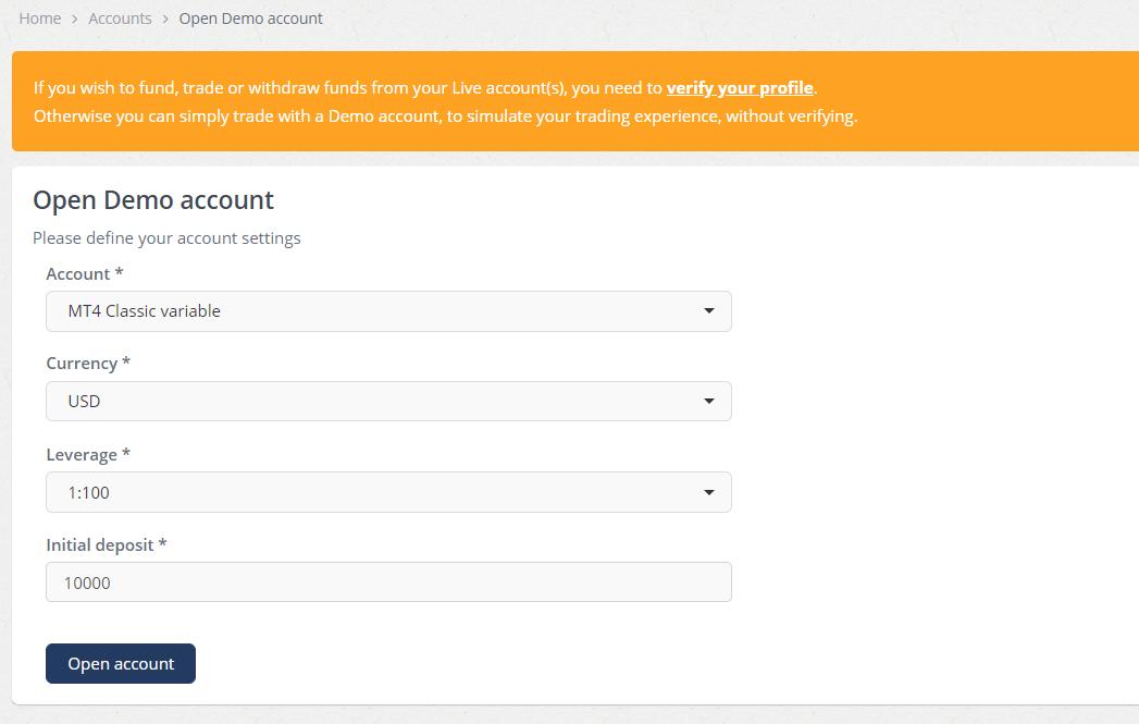 Enter Account Details